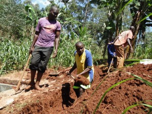 The Water Project:  Community Members Dig Trenches