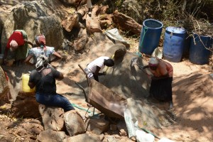 The Water Project : 18-kenya4758-sand-dam-construction
