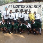 The Water Project: St. Kizito Lusumu Secondary School -  Students Pose At School Gate