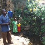 The Water Project: Shitoto Community, Laurence Spring -  Mr Laurence And Grandchildren