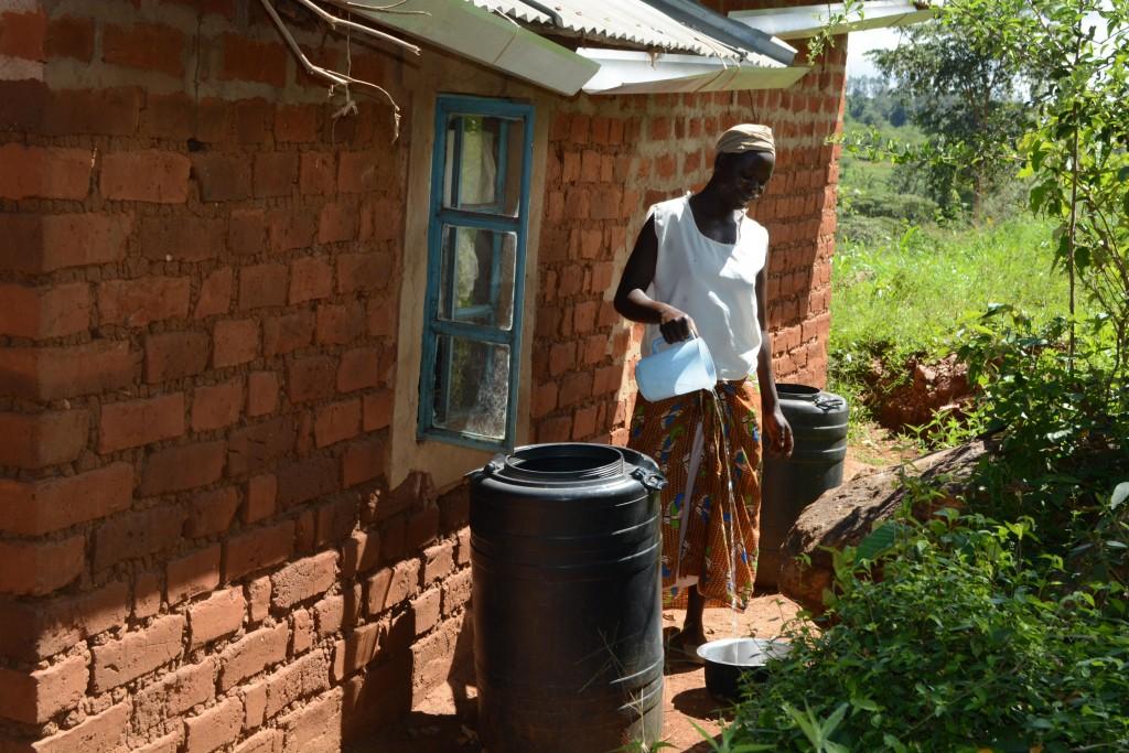 The Water Project : 2-kenya4770-rose-nduku-water-storage