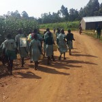 The Water Project: Eshilakwe Primary School -  Walking To Fetch Water