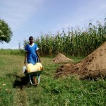 The Water Project: Shivagala Community, Paul Chengoli Spring -  Coming To Fetch Water