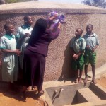 The Water Project: Eshisuru Primary School -  Finished Tank