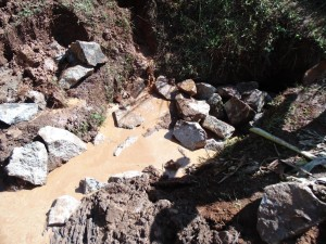 The Water Project : 20-kenya4719-spring-construction