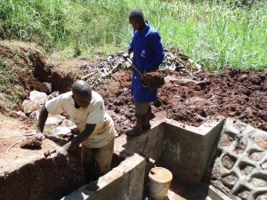 The Water Project : 23-kenya4719-spring-construction
