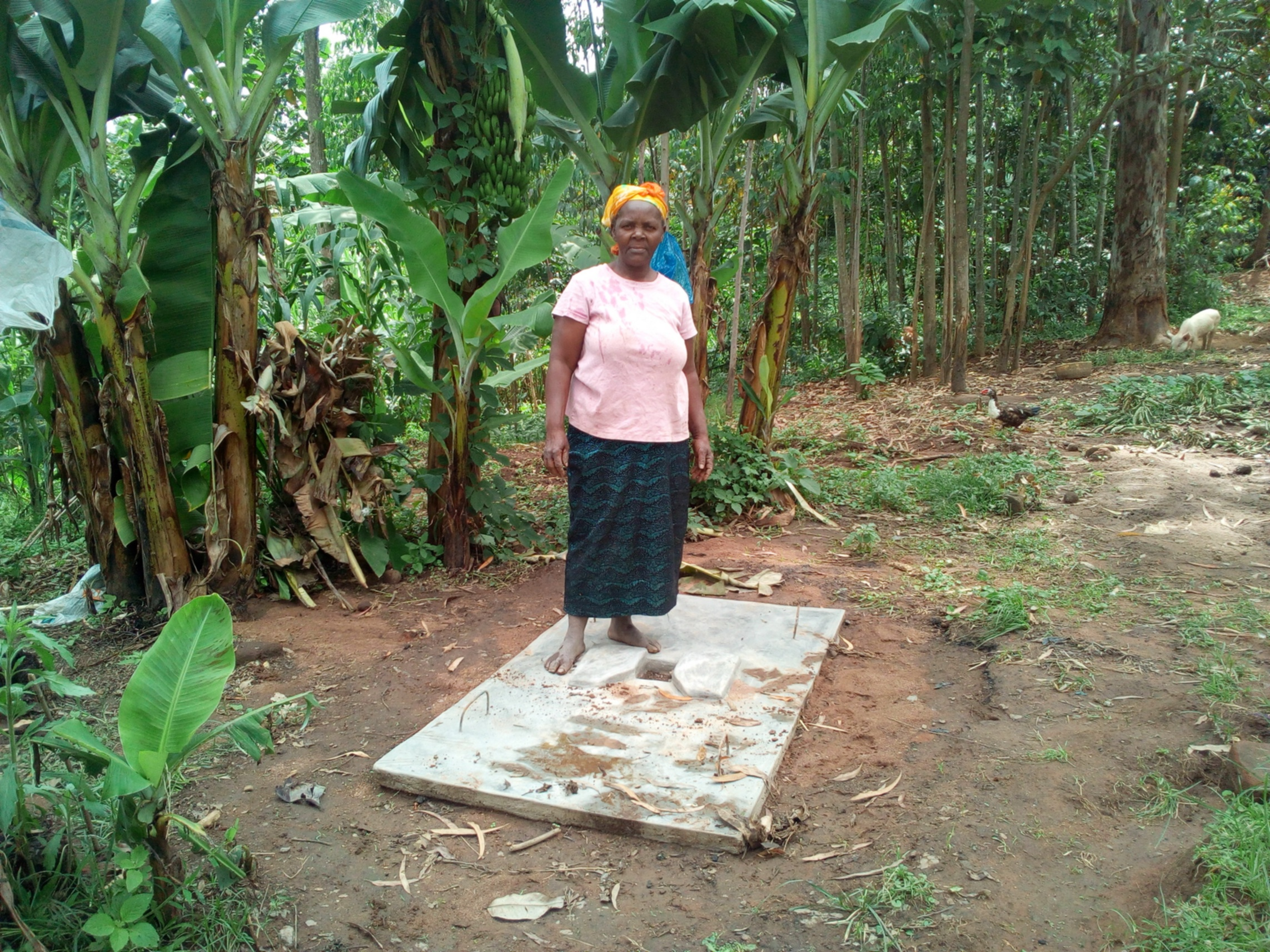 25 Mrs. Grace Malezi and her sanitation platform