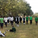 The Water Project: St. Kizito Lusumu Secondary School -  Lusumu Ball Team Warming Up