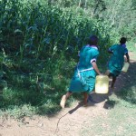 The Water Project: Chandolo Primary School -  Girls Rushing To Fetch Water