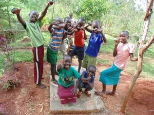 The Water Project:  Precious Muyonga Leads Team Of Friends To Show Thumbs Up For The New Sanitation Platform