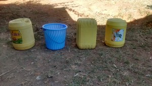 The Water Project:  Containers Used For Water