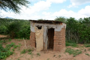The Water Project:  Justina Pius Household Latrine