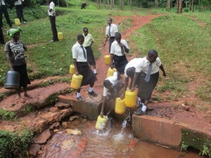 The Water Project:  Students At Mwabianga Spring