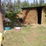 The Water Project: Chegulo Community, Shakava Spring -  Traditional Mud Latrine