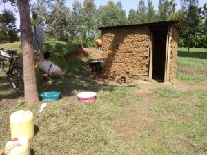 The Water Project:  Traditional Mud Latrine