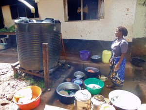 The Water Project:  School Cook And Plastic Tank