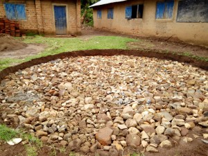 The Water Project:  Building A Solid Foundaction For Rain Tank