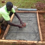 The Water Project: Wanzuma Community -  Sanitation Platform Construction
