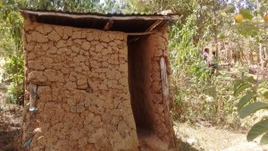 The Water Project:  Mud Latrine With No Door