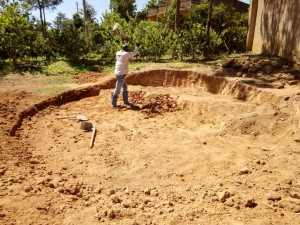 The Water Project:  Clearing For Foundation