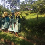 The Water Project: Eshilakwe Primary School -  Rushing Back To Get To School On Time