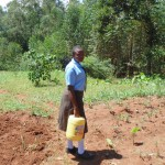 The Water Project: Friends Emanda Secondary School -  Emphy Kazira Heading To The Spring To Fetch Water