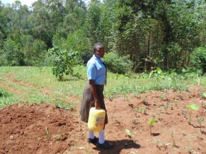 The Water Project:  Emphy Kazira Heading To The Spring To Fetch Water