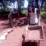 The Water Project: Kakubudu Primary School -  Latrine Foundation