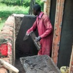 The Water Project: Mukhombe Primary School -  Artisan Working On Latrines
