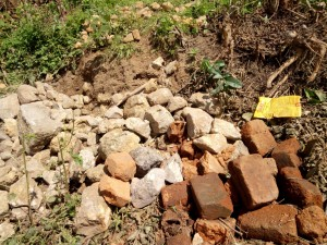 The Water Project:  Construction Materials Gathered By Community