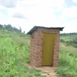 The Water Project: Kaani Community B -  Household Latrine