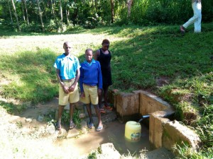 The Water Project:  Students By The Community Spring