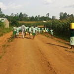 The Water Project: Eshilakwe Primary School -  Walking Back To School