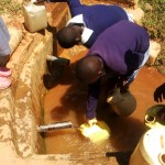 The Water Project: St. Antony Shijiko Primary School -  Students Fetching Water