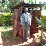 The Water Project: Mudete Community -  Mr Zephan Adanji At His Latrine