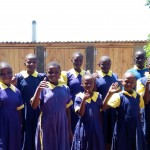 The Water Project: Kakubudu Primary School -  Finished Latrines