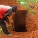 The Water Project: Bishop Sulumeti Girls Secondary School -  Sinking Latrine Pits