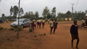 The Water Project:  Primary Students Walking Through Secondary Section