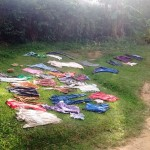 The Water Project: Futsi Fuvili Community B -  Clothes Drying On Ground