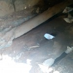 The Water Project: Mkunzulu Community, Museywa Spring -  Dangerous Latrine Floor
