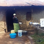 The Water Project: Eshilakwe Primary School -  School Cook Mrs Amunga Is Excited For A Clean Water Source At School