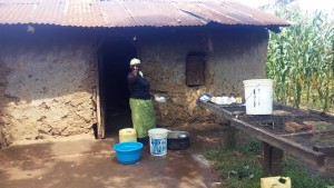 The Water Project:  School Cook Mrs Amunga Is Excited For A Clean Water Source At School
