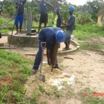 The Water Project: Royema, New Kambees -  Emptying The Drill Bit