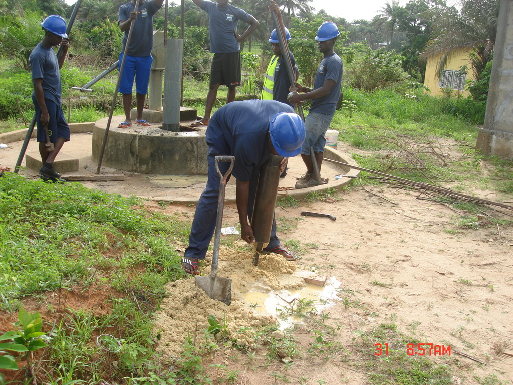 8 sierraleone5117 emptying the drill bit