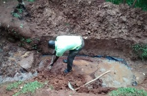 The Water Project:  Artisan Excavating The Spring
