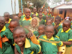 The Water Project:  Digula Primary Students Excited To Drink Water