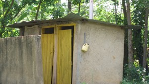 The Water Project : 12-kenya4804-latrine-and-hand-washing-container