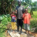 The Water Project: Chegulo Community, Shakava Spring -  Sanitation Platform