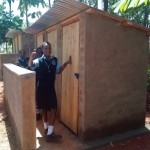 The Water Project: Friends Secondary School Shamakhokho -  Finished Latrines