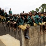The Water Project: Kalenda Primary School -  Finished Latrines